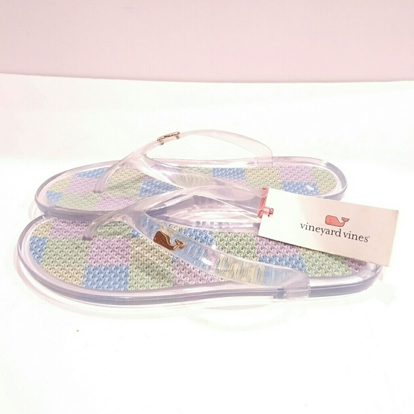 2375d1df11 Vineyard Vines Shoes | Rare Patchwork Jelly Flip Flops | Poshmark